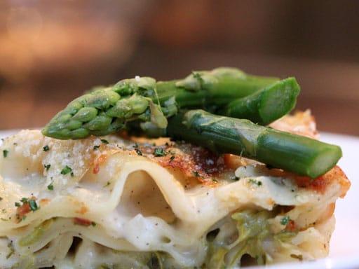 lasagne met groene asperges