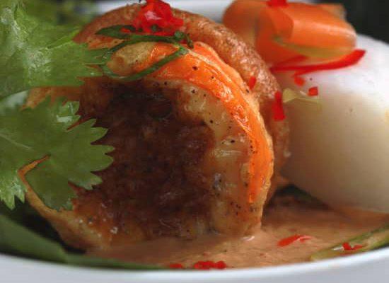 Ei gebakken met tofu