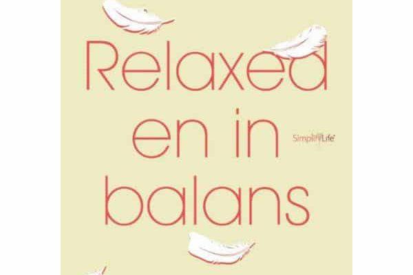 Omslag boek Relaxed en in balans met recept tastykoken