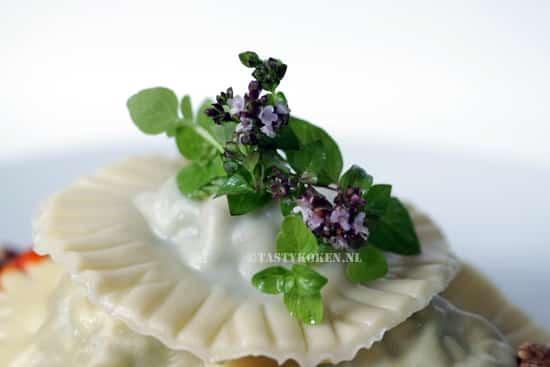 Ravioli met spinazie