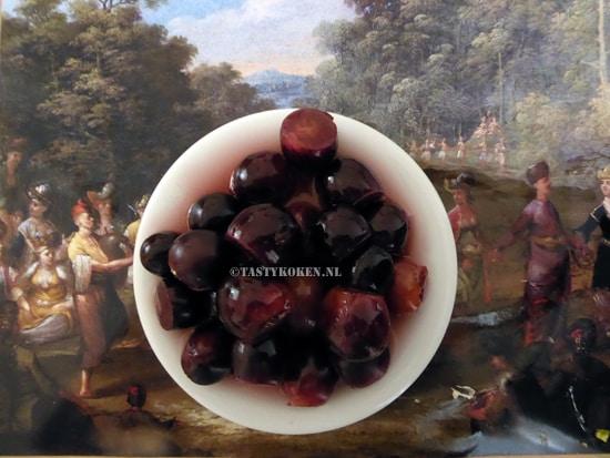 Gemarineerde rode druiven